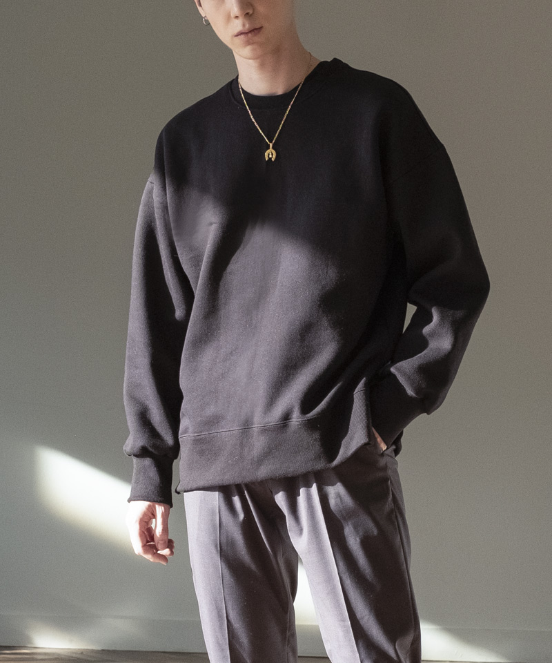 SIDE-VENT OVER SWEATSHIRTS [BLACK]