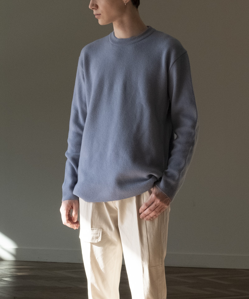 [2차 재입고중] CASHMERE WOOL BC KNIT [BLUE GREY]