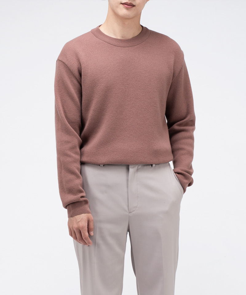 [15일 예약배송] PREMIUM SOFT WOOL MINIMAL SWEATER [INDI PINK]