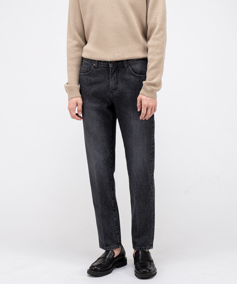 1960 BLACK YARD JEANS [CROP STRAIGHT]