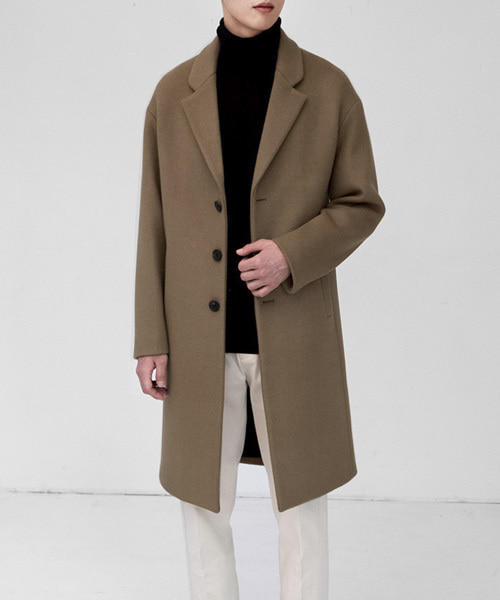 CASHMERE DRAPING COAT [CAMEL]