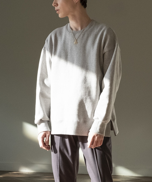 SIDE-VENT OVER SWEATSHIRTS [GREY]