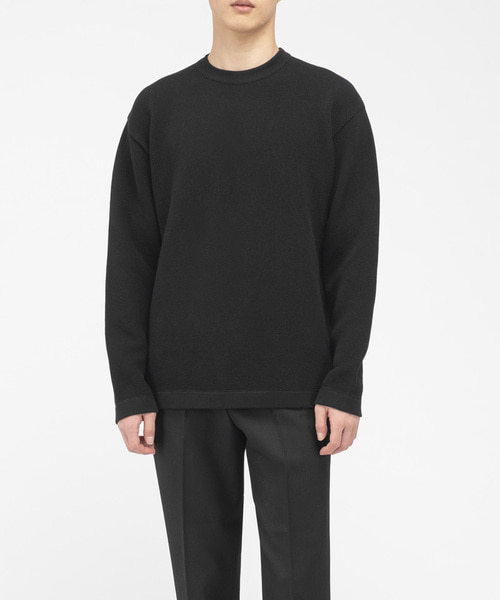 SILKY COTTON KNIT [BLACK]