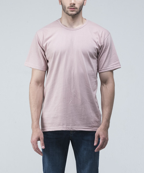 STANDARD SOLID TSHIRTS [ROSE PINK]