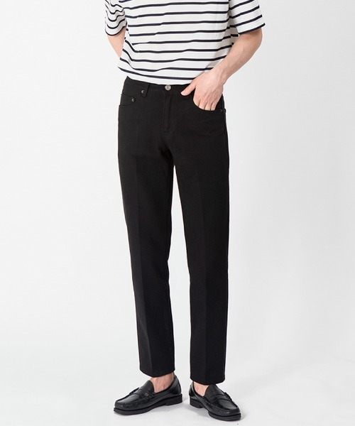 1941 OBJECT BLACK JEANS [CROP STRAIGHT]