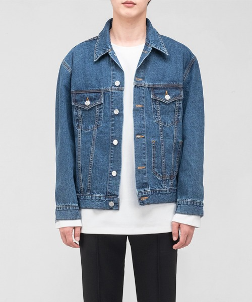 [23일 순차발송] 2002 SLOW WORKER DENIM WASH. JACKET [MIDDLE-BLUE]