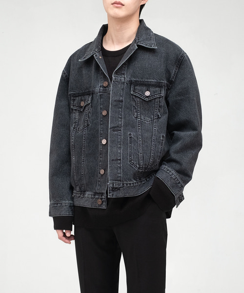 [23일 순차발송] 2001 SLOW WORKER DENIM WASH. JACKET [BLACK INDIGO]