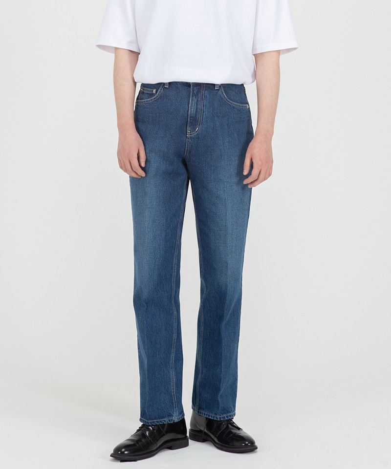51004 HISHITOMO COLLECTION MIDDLE BLUE JEANS [RELAX STRAIGHT]