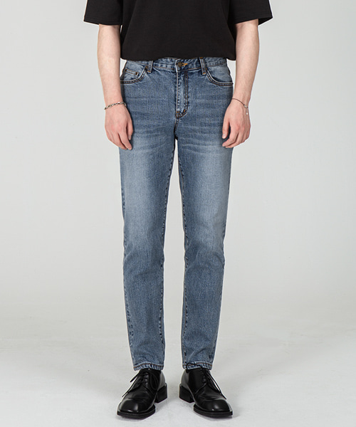 1982 STEEL BLUE JEANS [CROP SLIM]