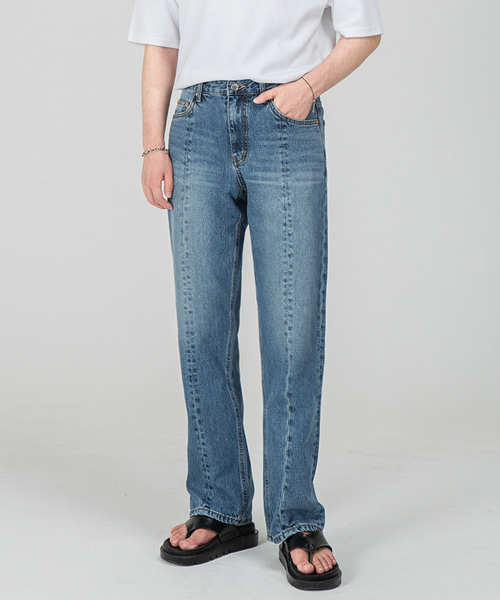 1803 FRONT CUT BLUE JEANS [WIDE STRAIGHT]