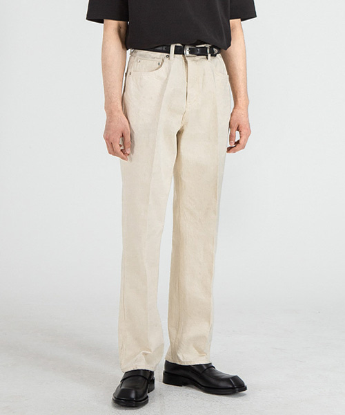 51007 HISHITOMO NATURAL CREAM JEANS [RELAX STRAIGHT]
