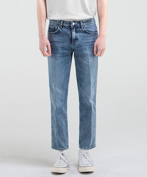 51014 KURABO COLD ISLAND JEANS [CROP STRAIGHT]