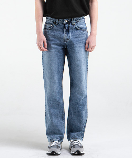 51013 KURABO BROKEN SPACE JEANS [WIDE STRAIGHT]