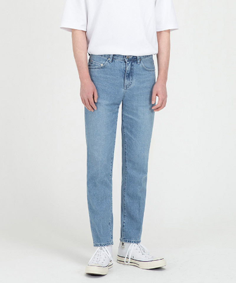 1962 WHITE BLUE JEANS [CROP STRAIGHT]