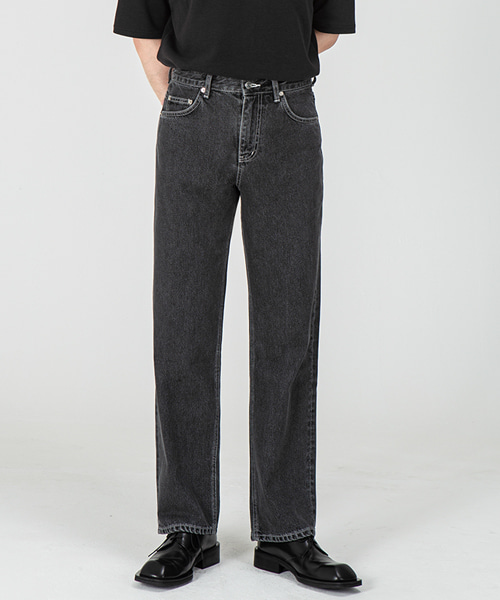 1967 JET BLACK JEANS [WIDE STRAIGHT]