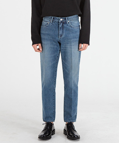 51008 HISHITOMO MIDDLE BLUE JEANS [CROP STRAIGHT]