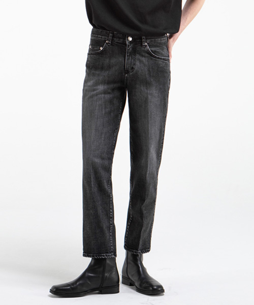 1820 BLACK STANDARD4 JEANS [CROP STRAIGHT]